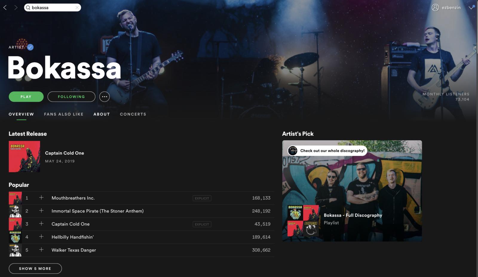 ezbenzin Spotify